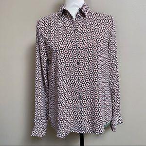 H&M floral print buttondown blouse